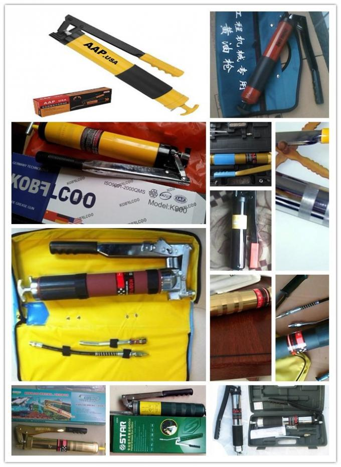 500cc / 600cc Transparent Clear Tube Grease Guns Cystle viewing for Construction Machines