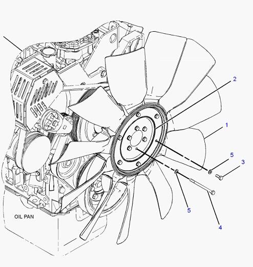 c7 engine fan blade 230 2892 for caterpillar 325d
