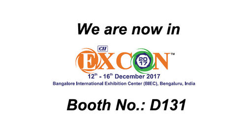 Welcome to visit us on Excon India 2017.