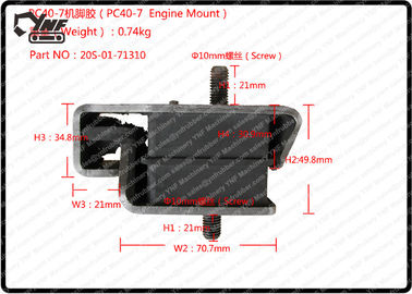 Komatsu Rubber Engine Mounts , PC40 PC50 Excavator Rubber Engine Cushion 20S-01-71310