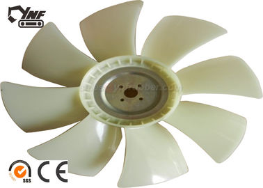 White 4BG1T Radiator Cooling Fan Blade For Excavator Accessories