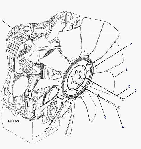 C7 Engine Fan Blade 230 2892 For Caterpillar 325d Excavator Spare Parts