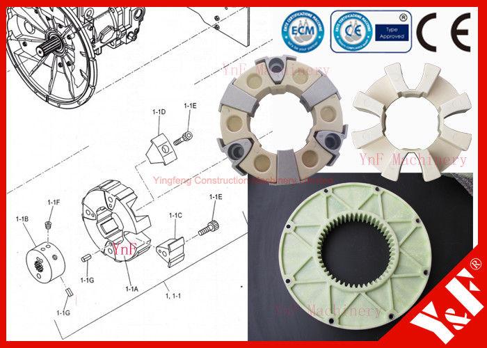 excavator coupling fix isuzu 6hk1 engine flywheel mounted hydraulic pump  shaft